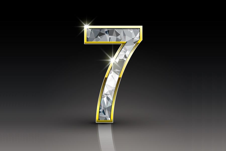 رقم 7 في المنام  للعزباء